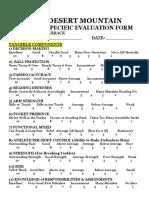 QB Evaluation Form