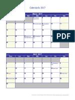 Calendario 2017 Pequeno