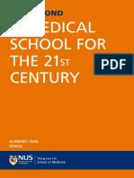 NUS Medicine Admission Brochure 2019