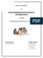 Concept of Benami Transactions and Transfer by Ostensible Owner