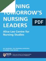 NUS Nursing Admission Brochure 2019