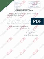 Comunicación del PP a las Cortes regionales para incorporar a Leandro Esteban al Grupo Parlamentario