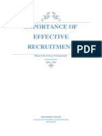 Importance Of effective Recruitment