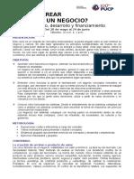 Syllabus Cómo Crear Un Negocio Conceptodesarrolloyfinanciamiento Mayo 2017
