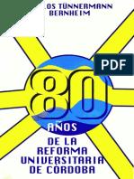Ochenta años de la Reforma Universitaria de Córdoba.pdf