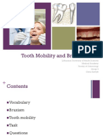 Tooth Mobility and Bruxism