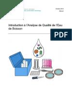 Cawst Introduction a l Analyse de Qualite de l Eau de Boisson 2013