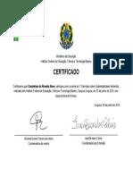 Certificado IFBAIANO - IV Seminário de Sustentabilidade Ambiental