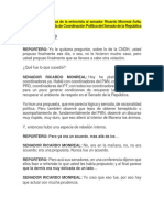 Versión Estenográfica de La Entrevista Al Senador Ricardo Monreal Ávila 14 Nov 2019