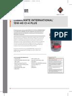 aceite o lubricate 15w-40 INTERNATIONAL