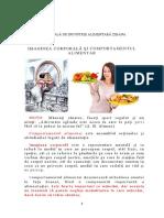 Imaginea corporala si comportamentul alimentar