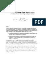 descentralizacion y democracia