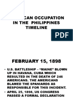 American Occupation in the Philippines Timeline