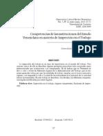 Competencias de Las Instituciones en Materia de Trabajo