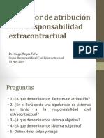 Los Factor de Atribución de La Responsabilidad Extracontractual