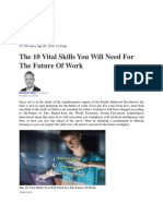 The 10 vital skills you will need for the future of work