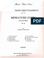Gretchaninov, Alexander - Clarinet Miniatures