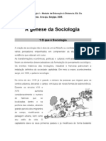 A Genese Da Sociologia