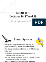 Lectures 16 17 18 Linear Systems and MATLAB 2016 Handouts
