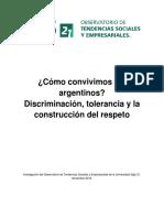 US21 - Investigación - Cómo Convivimos Los Argentinos - Discriminación, Tolerancia y La Construcción Del Respeto