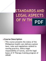 3 Standards and Legal Aspects in IV Therapy