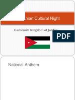Introduction to Jordan for Jordanian Cultural Night