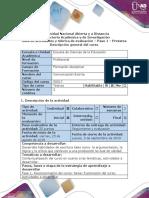 Guía de Actividades y Rúbrica de Evaluación - Pre-tarea - Exploración Del Curso