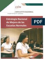 Estrategia Nacional de Mejora  de las Escuelas Normales