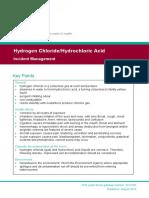 Hydrogen Chloride Incident Management PHE 2019-2