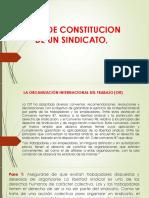 Acta de Constitucion de Un Sindicato,