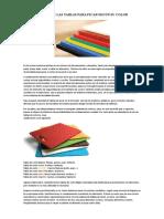 Clasificación de Las Tablas Para Picar Según Su Color