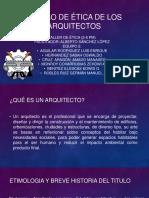 Código de Ética Profesional Para El Arquitecto Mexicano