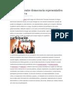 Diferencias Entre Democracia Representativa y Participativa