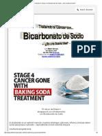 Tratando El Cancer Con Bicarbonato de Sodio