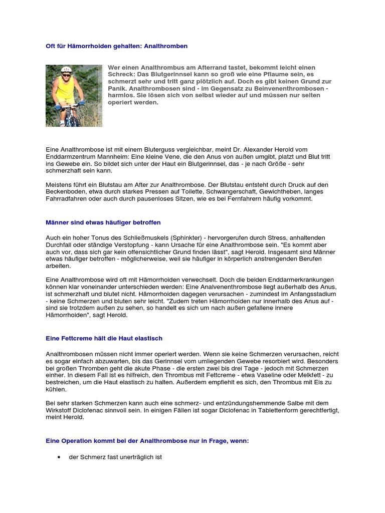 Blutet analtrombose Hämorrhoiden experience-ccra-in.ctb.com