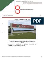 edital esquematizado. PFN