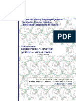 Estructuras y síntesis química metalúrgica
