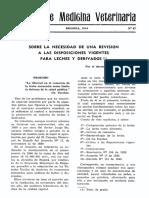 Disposiciones Vigentes Leche 1944