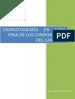 Cromatografia en Capa Fina de Los Componentes Del Cannabis Csif