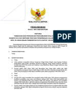 Perubahan Pengumuman CPNS Kota Depok 2019