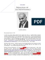 Principles of Electrodynamics BY MILES MATHIS