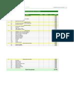 Planilla de Excel de Presupuesto de Obra de Vivienda