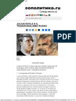Julius Evola e Il Tradizionalismo Russo