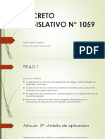 DECRETO LEGISLATIVO N° 1059