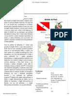 Pará – Wikipédia, A Enciclopédia Livre