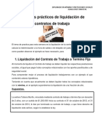 Ejemplos Pràcticos Sobre Liquidaciòn de Contratos de Trabajo - Semana Uno