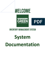 Documentation of a Inventory Management System