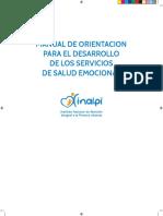 Manual de Orientacion Para El Desarrollo de Los Servicios de Salud Emocional
