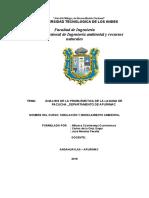 ANALISIS DE LA PROBLEMÁTICA DE LA LAGUNA DE PACUCHA _DEPARTAMENTO DE APURIMAC