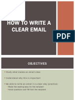 How to write a clear email